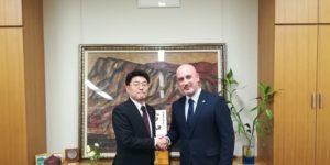 On. Makoto Oniki, Deputato e il Presidente Di Santo Daniele
